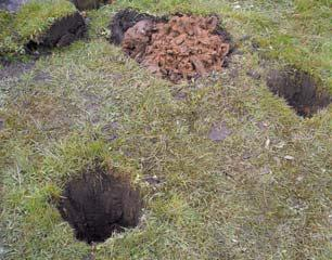 diy notice board installation dig holes