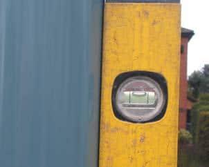 diy notice board installation vertical posts